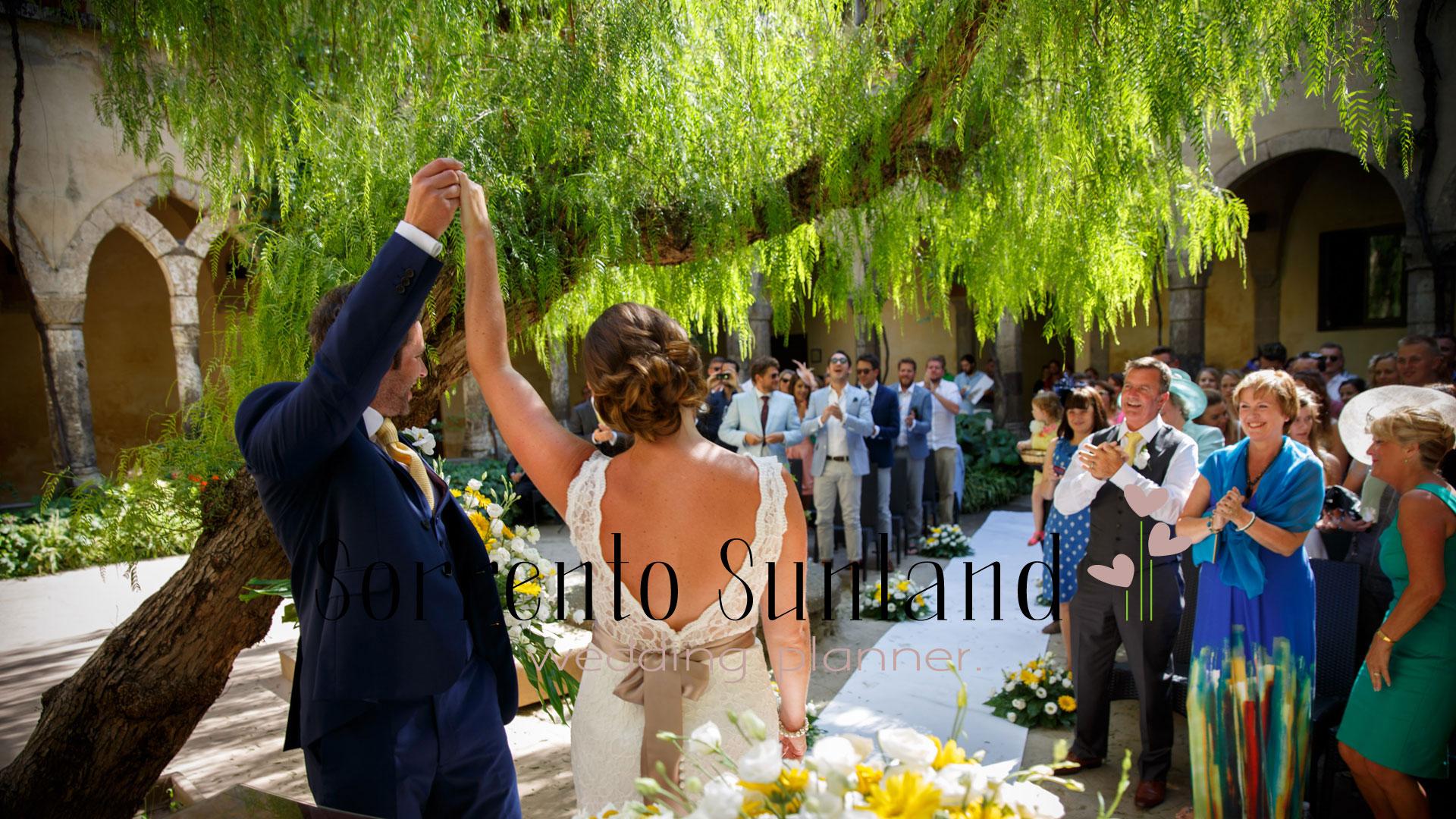 The peaceful romantic garden at San Francesco Cloister in Sorrento- Sorrento Sunland